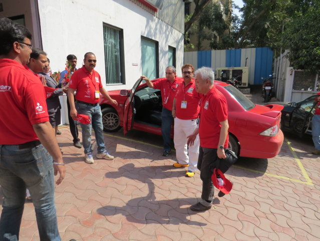 ARRIVAL OF KENNICHI HORINOUCHI SAN TO PETHAKER MOTORS PUNE