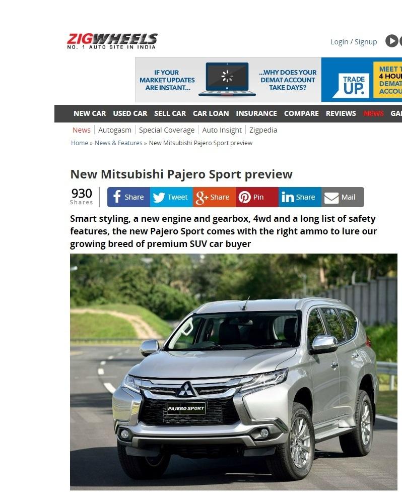 Upcoming 2015 mitsubishi montero sport for Ford motor company financial analysis 2015